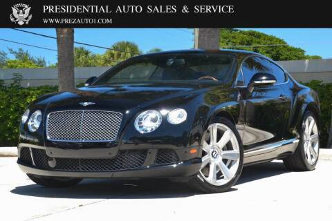 2012 Bentley Continental for sale at Presidential Auto  Sales & Service in Delray Beach FL