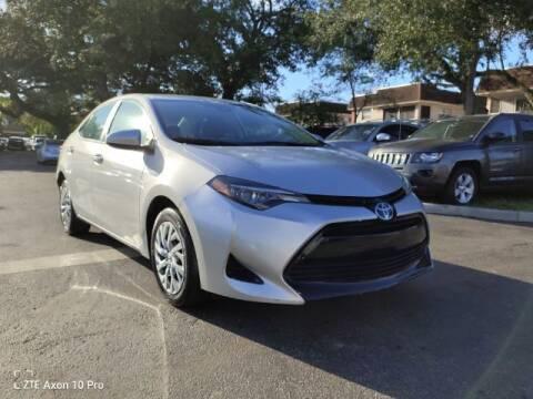 2019 Toyota Corolla for sale at Start Auto Liquidation Center in Miramar FL