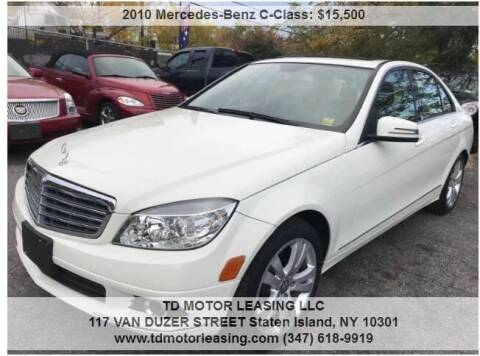 2010 Mercedes-Benz C-Class for sale at TD MOTOR LEASING LLC in Staten Island NY