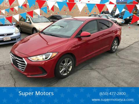 2017 Hyundai Elantra for sale at Super Motors in San Mateo CA