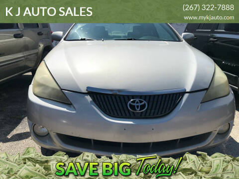 2004 Toyota Camry Solara for sale at K J AUTO SALES in Philadelphia PA