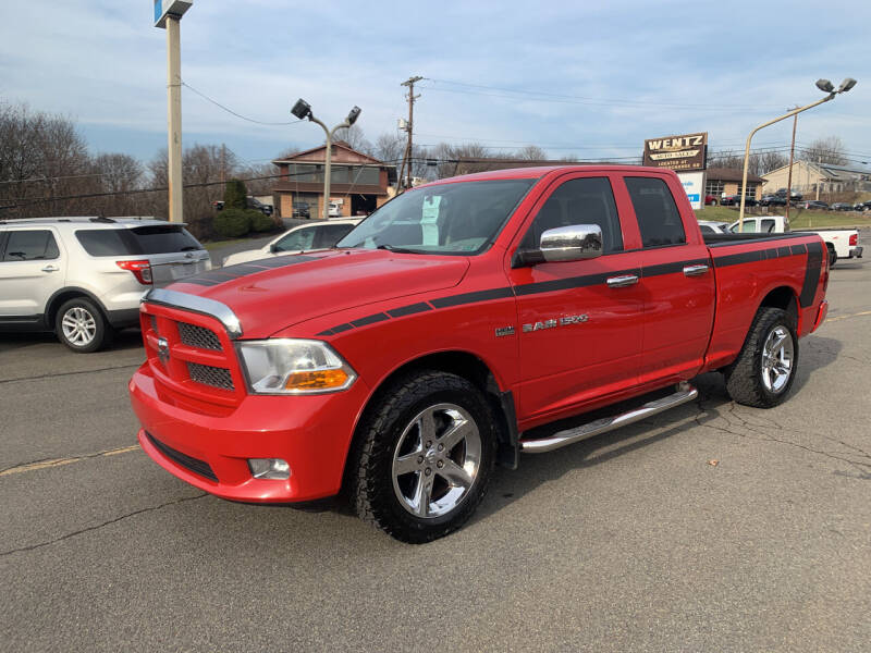 2012 RAM Ram Pickup 1500 for sale at WENTZ AUTO SALES in Lehighton PA