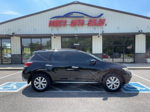 2013 Nissan Murano for sale at DOUG'S AUTO SALES INC in Pleasant View TN