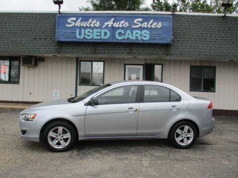 2009 Mitsubishi Lancer for sale at SHULTS AUTO SALES INC. in Crystal Lake IL