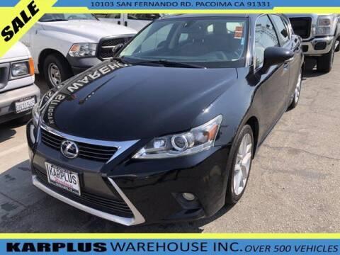 2014 Lexus CT 200h for sale at Karplus Warehouse in Pacoima CA