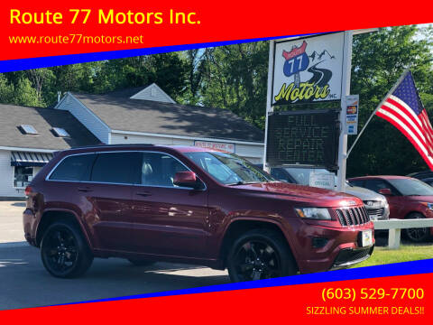 2015 Jeep Grand Cherokee for sale at Route 77 Motors Inc. in Weare NH