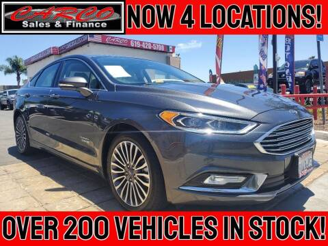 2018 Ford Fusion Energi for sale at CARCO SALES & FINANCE in Chula Vista CA