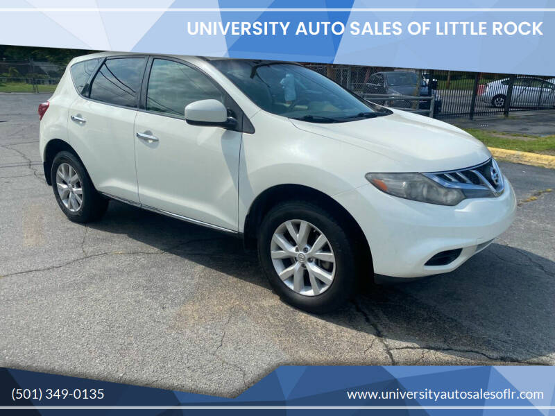 2011 Nissan Murano for sale at University Auto Sales of Little Rock in Little Rock AR