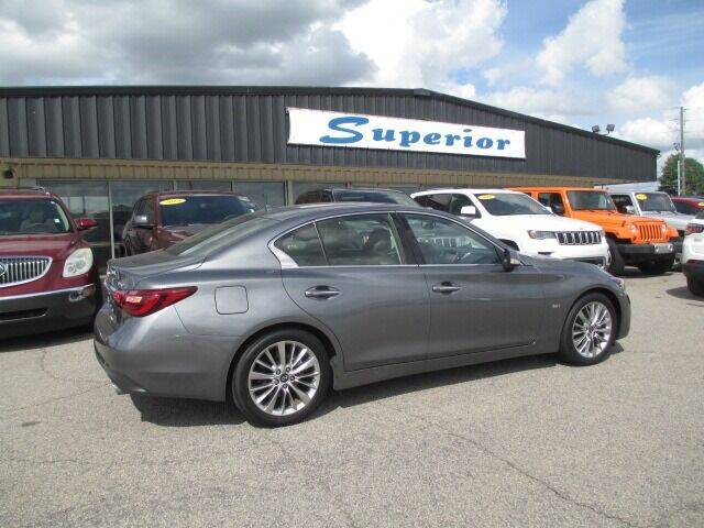 2019 Infiniti Q50 for sale at SUPERIOR CHRYSLER DODGE JEEP RAM FIAT in Henderson NC