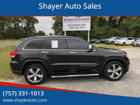 2015 Jeep Grand Cherokee for sale at Shayer Auto Sales in Cape Charles VA