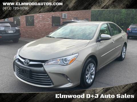 2017 Toyota Camry for sale at Elmwood D+J Auto Sales in Agawam MA