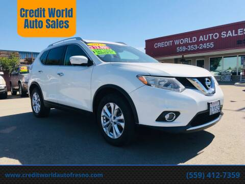 2015 Nissan Rogue for sale at Credit World Auto Sales in Fresno CA