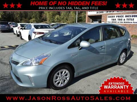 2014 Toyota Prius v for sale at Jason Ross Auto Sales in Burlington NC