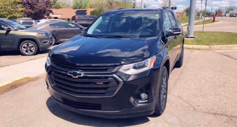 2019 Chevrolet Traverse for sale at One Price Auto in Mount Clemens MI