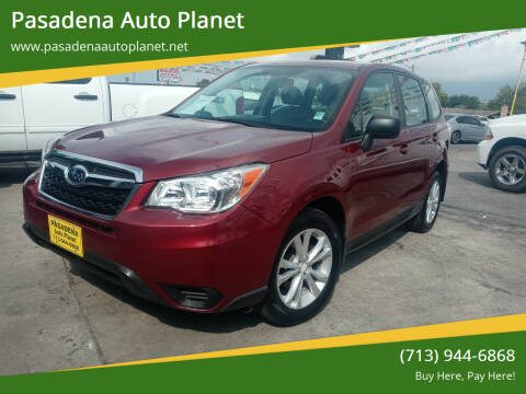 2014 Subaru Forester for sale at Pasadena Auto Planet in Houston TX