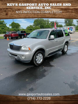 2004 Lincoln Aviator for sale at KEV'S GASPORT AUTO SALES AND SERVICE, INC in Gasport NY
