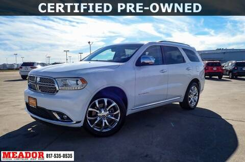 2016 Dodge Durango for sale at Meador Dodge Chrysler Jeep RAM in Fort Worth TX