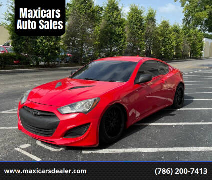 2013 Hyundai Genesis Coupe for sale at Maxicars Auto Sales in West Park FL