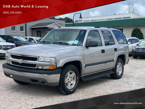 2004 Chevrolet Tahoe for sale at DAB Auto World & Leasing in Wake Forest NC