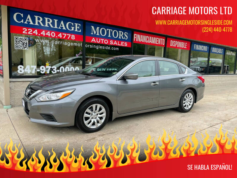 2016 Nissan Altima for sale at Carriage Motors LTD in Ingleside IL