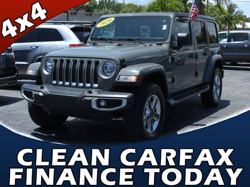 2020 Jeep Wrangler Unlimited for sale at Palm Beach Auto Wholesale in Lake Park FL