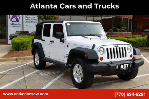 2013 Jeep Wrangler Unlimited for sale at Atlanta Cars and Trucks in Kennesaw GA