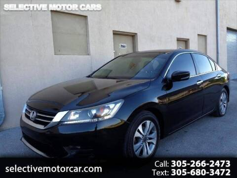 2015 Honda Accord for sale at Selective Motor Cars in Miami FL