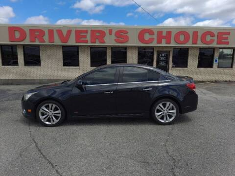 2012 Chevrolet Cruze for sale at Driver's Choice in Sherman TX
