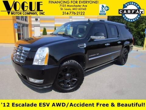 2012 Cadillac Escalade ESV for sale at Vogue Motor Company Inc in Saint Louis MO