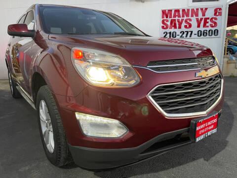 2016 Chevrolet Equinox for sale at Manny G Motors in San Antonio TX