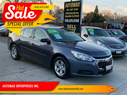 2015 Chevrolet Malibu for sale at AUTOMAX ENTERPRISES INC. in Roseville CA