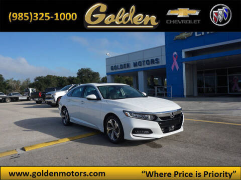 2020 Honda Accord for sale at GOLDEN MOTORS in Cut Off LA