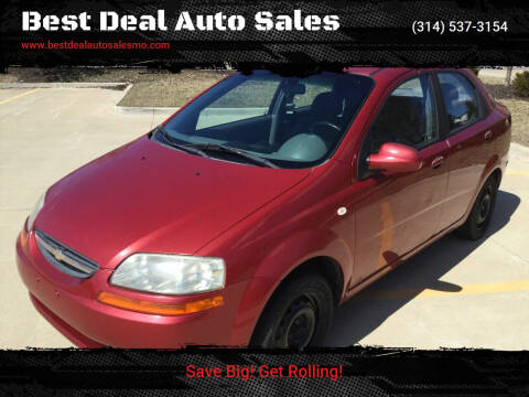 2005 Chevrolet Aveo for sale at Best Deal Auto Sales in Saint Charles MO