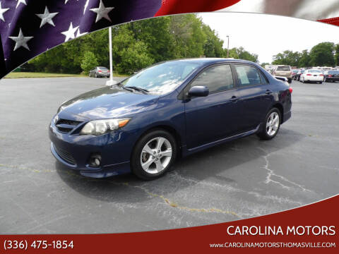 2012 Toyota Corolla for sale at CAROLINA MOTORS in Thomasville NC