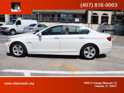 2011 BMW 5 Series for sale at Ride On Auto in Orlando FL