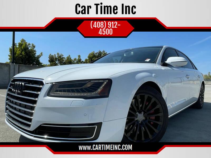 2015 Audi A8 L for sale at Car Time Inc in San Jose CA