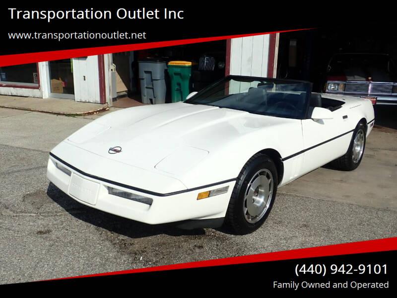 1987 Chevrolet Corvette for sale at Transportation Outlet Inc in Eastlake OH