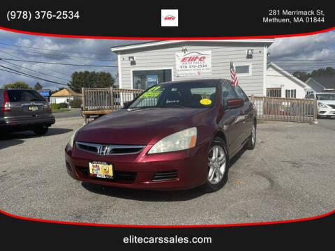 2006 Honda Accord for sale at ELITE AUTO SALES, INC in Methuen MA
