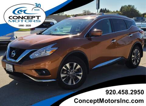 2017 Nissan Murano for sale at CONCEPT MOTORS INC in Sheboygan WI
