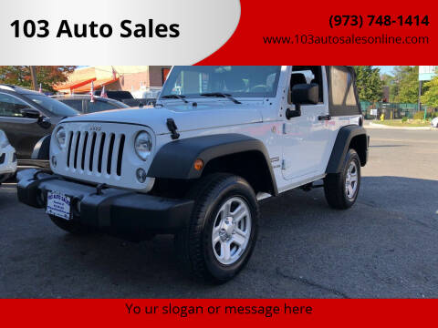 2015 Jeep Wrangler for sale at 103 Auto Sales in Bloomfield NJ