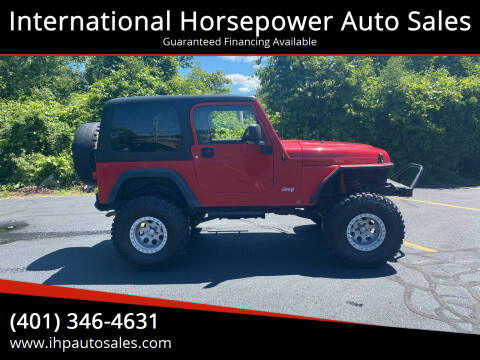 2005 Jeep Wrangler for sale at International Horsepower Auto Sales in Warwick RI
