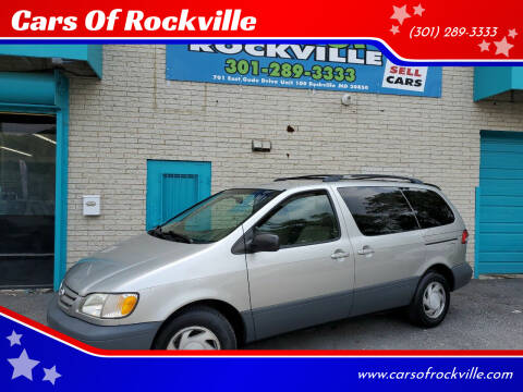 2001 Toyota Sienna for sale at Cars Of Rockville in Rockville MD