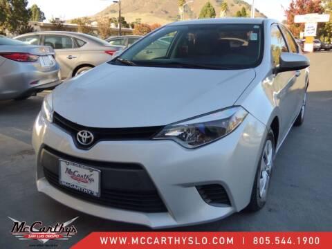 2014 Toyota Corolla for sale at McCarthy Wholesale in San Luis Obispo CA