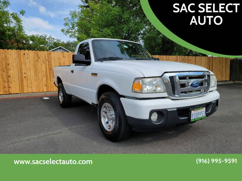 2011 Ford Ranger for sale at SAC SELECT AUTO in Sacramento CA