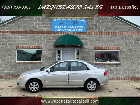 2008 Kia Spectra for sale at VAZQUEZ AUTO SALES in Bloomington IL