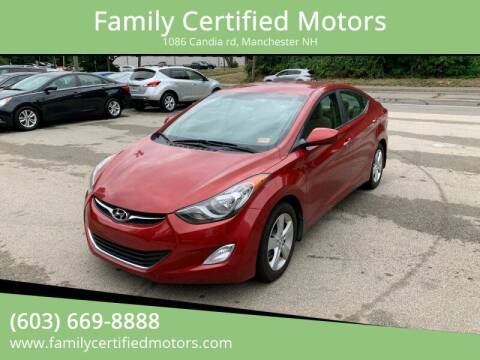 2013 Hyundai Elantra for sale at Family Certified Motors in Manchester NH