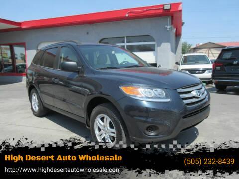 2012 Hyundai Santa Fe for sale at High Desert Auto Wholesale in Albuquerque NM