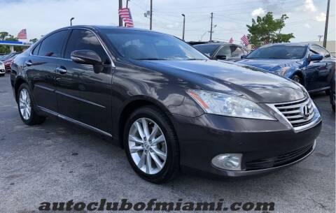 2012 Lexus ES 350 for sale at AUTO CLUB OF MIAMI in Miami FL