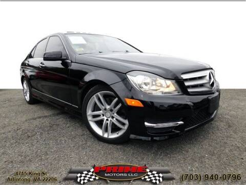 2013 Mercedes-Benz C-Class for sale at PRIME MOTORS LLC in Arlington VA