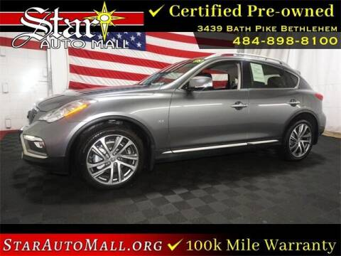 2017 Infiniti QX50 for sale at STAR AUTO MALL 512 in Bethlehem PA